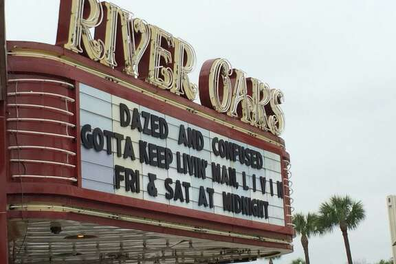Dazed and Confused on the marquee at the River Oaks Theatre