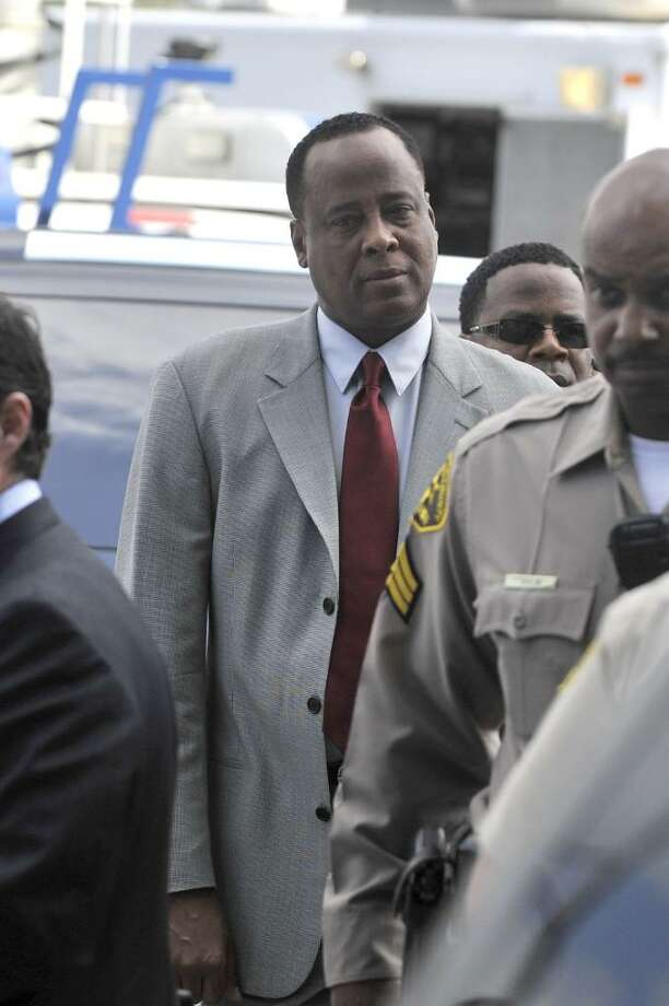 LOS ANGELES, CA - FEBRUARY 08: Dr Conrad Murray (R) arrives at the Airport Courthouse for arraignment on February 8, 2010 in Los Angeles, California. Murray is reportedly being charged with involuntary manslaughter in the death of Michael Jackson.  (Photo by Toby Canham/Getty Images) *** Local Caption *** Conrad Murray Photo: Toby Canham, Getty Images / 2010 Getty Images
