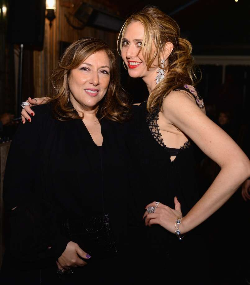 """Designers Lorraine Schwartz and Ofira Sandberg attend Pharrell Williams at Bionic Yarn, G-Star and Hennessy Privilege Celebrate Pharrell Williams and his Oscar nominated single, """"Happy"""" on February 27, 2014 in Los Angeles, California. Photo: Dimitrios Kambouris, Getty Images For One View"""
