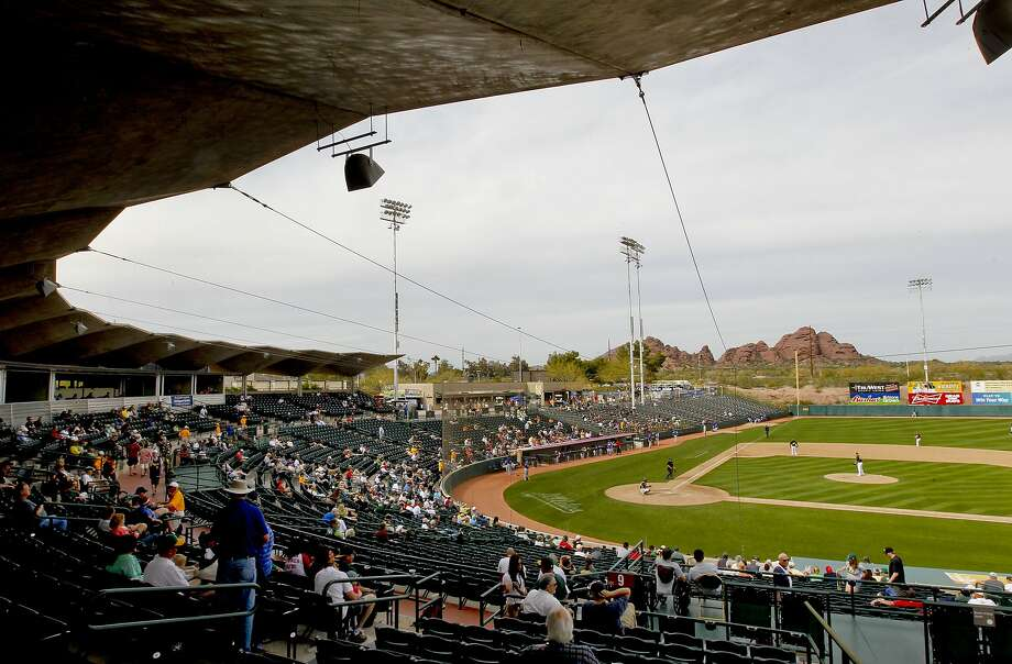 Phoenix Municipal Stadium has been the A's spring home since 1982, but they'll move to Mesa in 2015. Photo: Michael Macor, The Chronicle