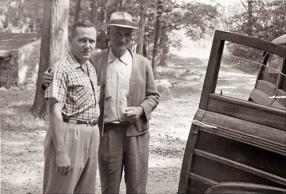 Luigi Del Bianco with Lincoln Borglum. Photo: Contributed Photo / Stamford Advocate Contributed