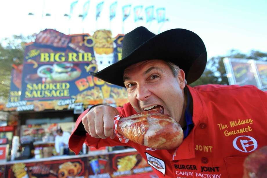 The Houston Livestock Show and Rodeo is known for more than just its bucking broncos and big-named musical acts. Year by year, another component elbows its way into the spotlight: the food. It's a good thing they sell belts at the rodeo because after a night of eating these treats, you'll be busting through the notches. Take a by-the-numbers look at just how much food was scarfed down at the 2013 Houston Livestock Show and Rodeo.  Photo: Mayra Beltran, Staff / © 2014 Houston Chronicle