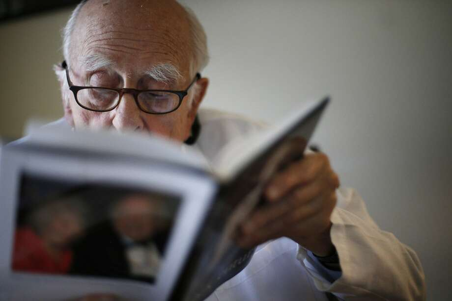 Dr. Ephraim Engleman, arthritis expert still working at UCSF, turns 103 on March 24, and has been married for 72 years. Photo: Carlos Avila Gonzalez, The Chronicle