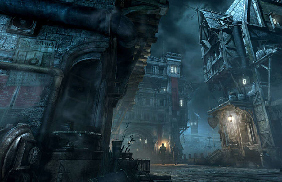 """The City"" in ""Thief"" soon becomes a character of its own, with dark, moody Victorian architecture and hints of steampunk decor. Photo: Courtesy Images / Square Enix"