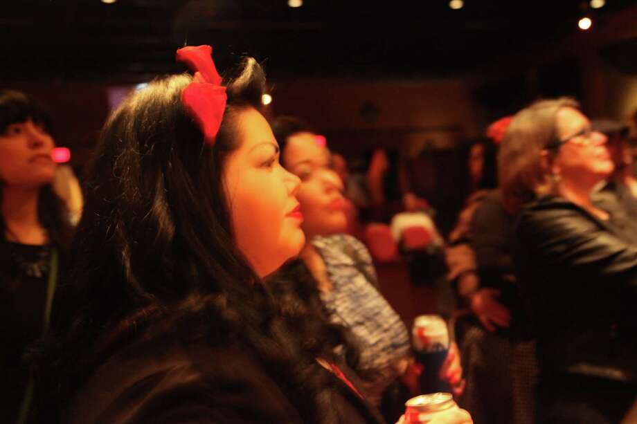 Film buffs attend CineFestival at the Guadalupe Theater on Friday night, Feb. 28, 2014 Photo: Xelina Flores-Chasnoff