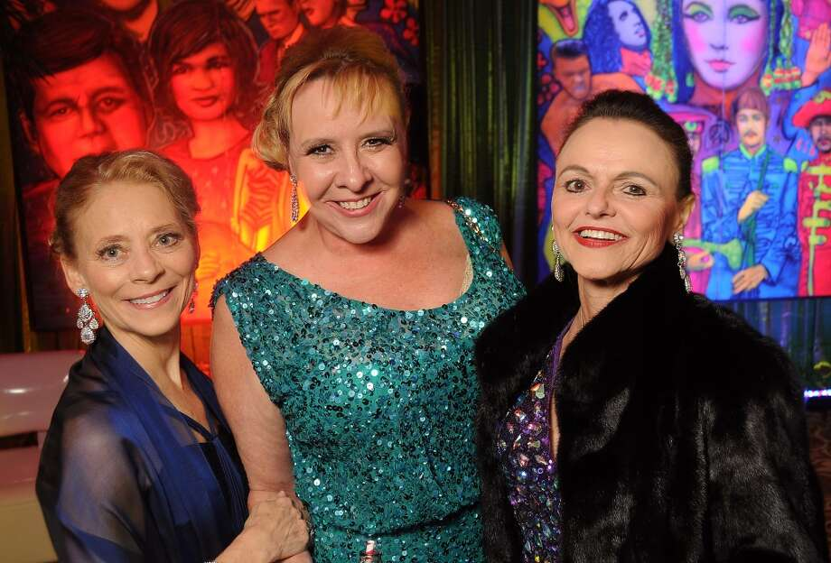 From left: Jolyn Scheirman, Sally Kline and Sharon Soderman at the 14th Annual San Luis Salute at the Galveston Island Convention Center Friday Feb 28, 2014.(Dave Rossman photo) Photo: Dave Rossman, For The Houston Chronicle