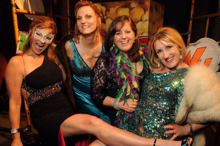 From left: Lindy Tennet, Linda Debolt, Lorna Ramsay and Rozi Turnbull at the 18th Annual San Luis Salute at the Galveston Island Convention Center Friday Feb 28, 2014.(Dave Rossman photo) Photo: Dave Rossman, For The Houston Chronicle