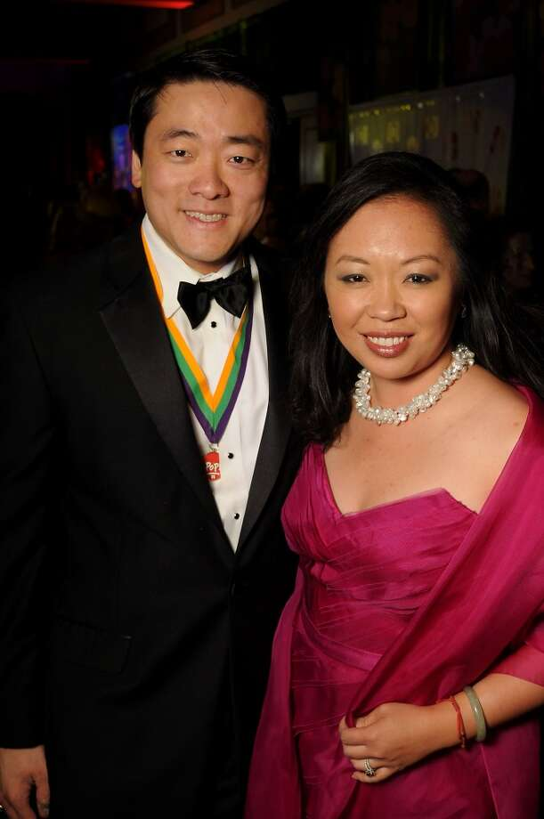 Gene Wu and his wife Miya Shay at the 18th Annual San Luis Salute at the Galveston Island Convention Center Friday Feb 28, 2014.(Dave Rossman photo) Photo: Dave Rossman, For The Houston Chronicle