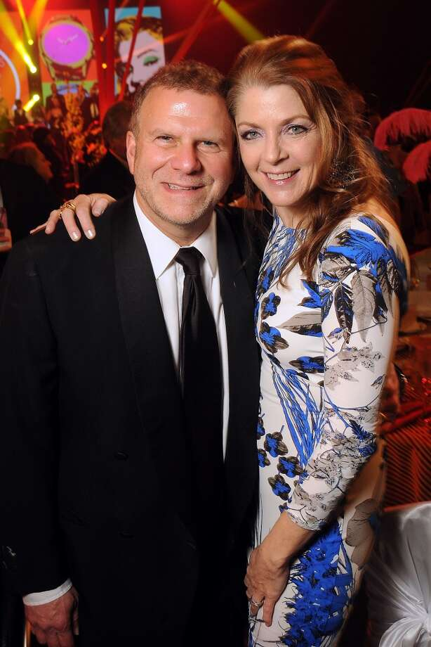 Host Paige and Tilman Fertitta at the 18th Annual San Luis Salute at the Galveston Island Convention Center Friday Feb 28, 2014.(Dave Rossman photo) Photo: Dave Rossman, For The Houston Chronicle