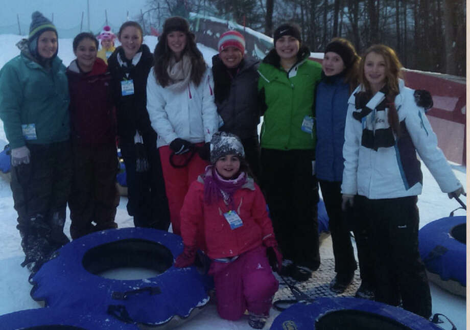 "The Electric City Bombers Under-14 team spent a day during the off-season catching a movie at Bow Tie cinemas in Saratoga Springs to see ""Frozen,""  then hitting the frozen slopes at West Mountain  for some tubing. (Photo submitted)"