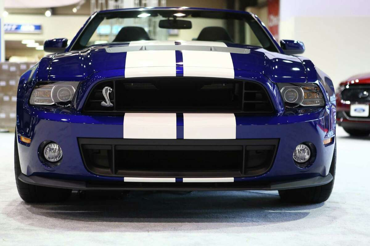 A Ford Mustang GT Shelby is shown during the opening day of the Seattle Auto Show. Photographed on Wednesday, October 16, 2013 at the CenturyLink Field Events Center.