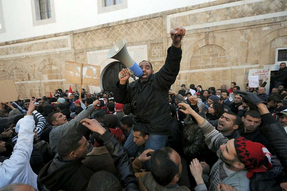 In early 2011 the Arab Spring brought the downfall of several longtime Middle East strongmen rulers. After a 23-year regime Tunisia President Zine El Abidine Ben Ali was the first to fall. Photo: Fethi Belaid, AFP/Getty Images