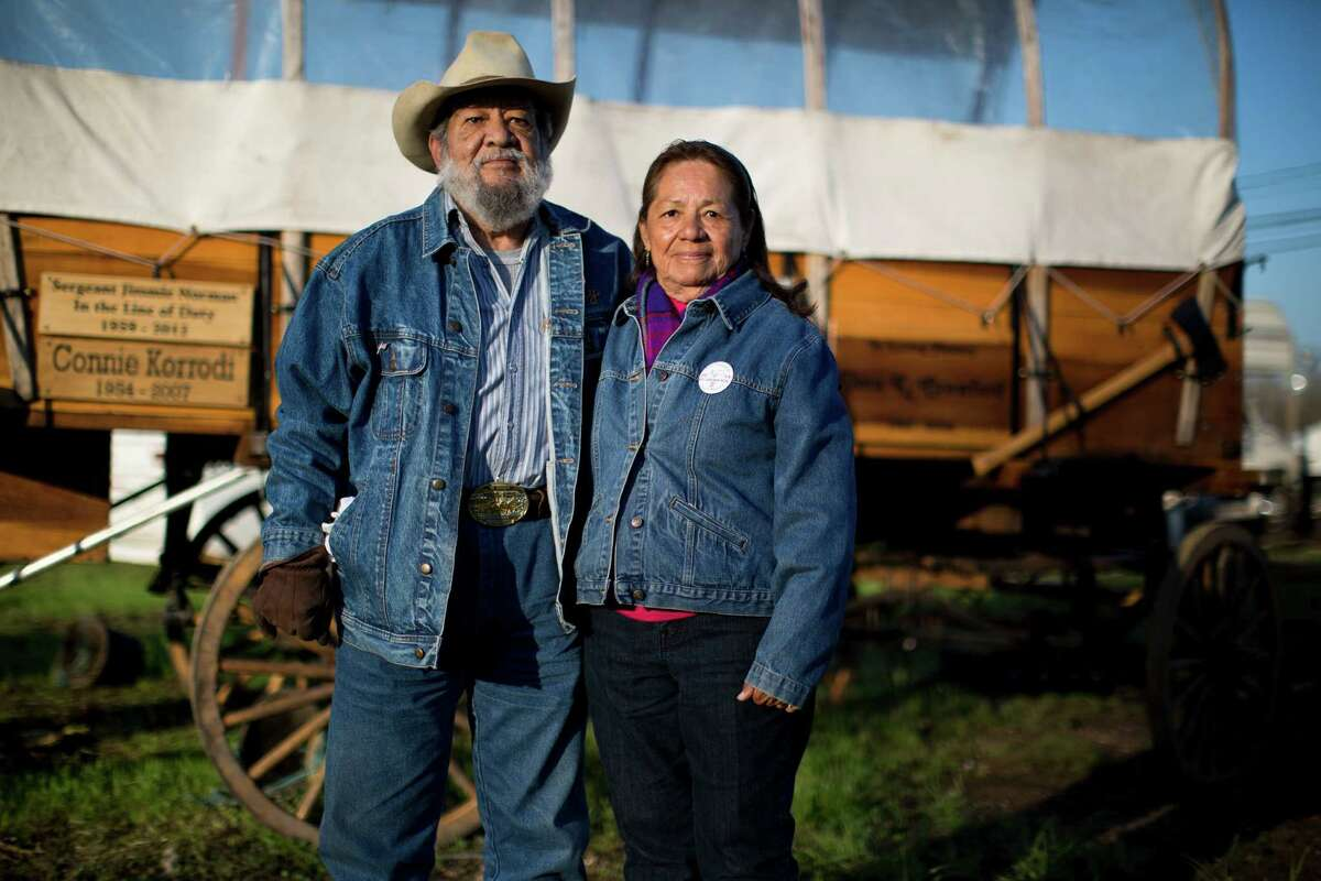 Larry and his Susie Ramirez, of Highlands, are the founders of the Los Vaqueros Rio Grande Trail Ride. Their son David now wears the trail boss's hat.
