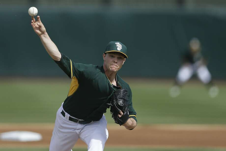 Sonny Gray failed to retire former Oakland teammate Michael Choice, but he made it through two scoreless innings. Photo: Gregory Bull, Associated Press