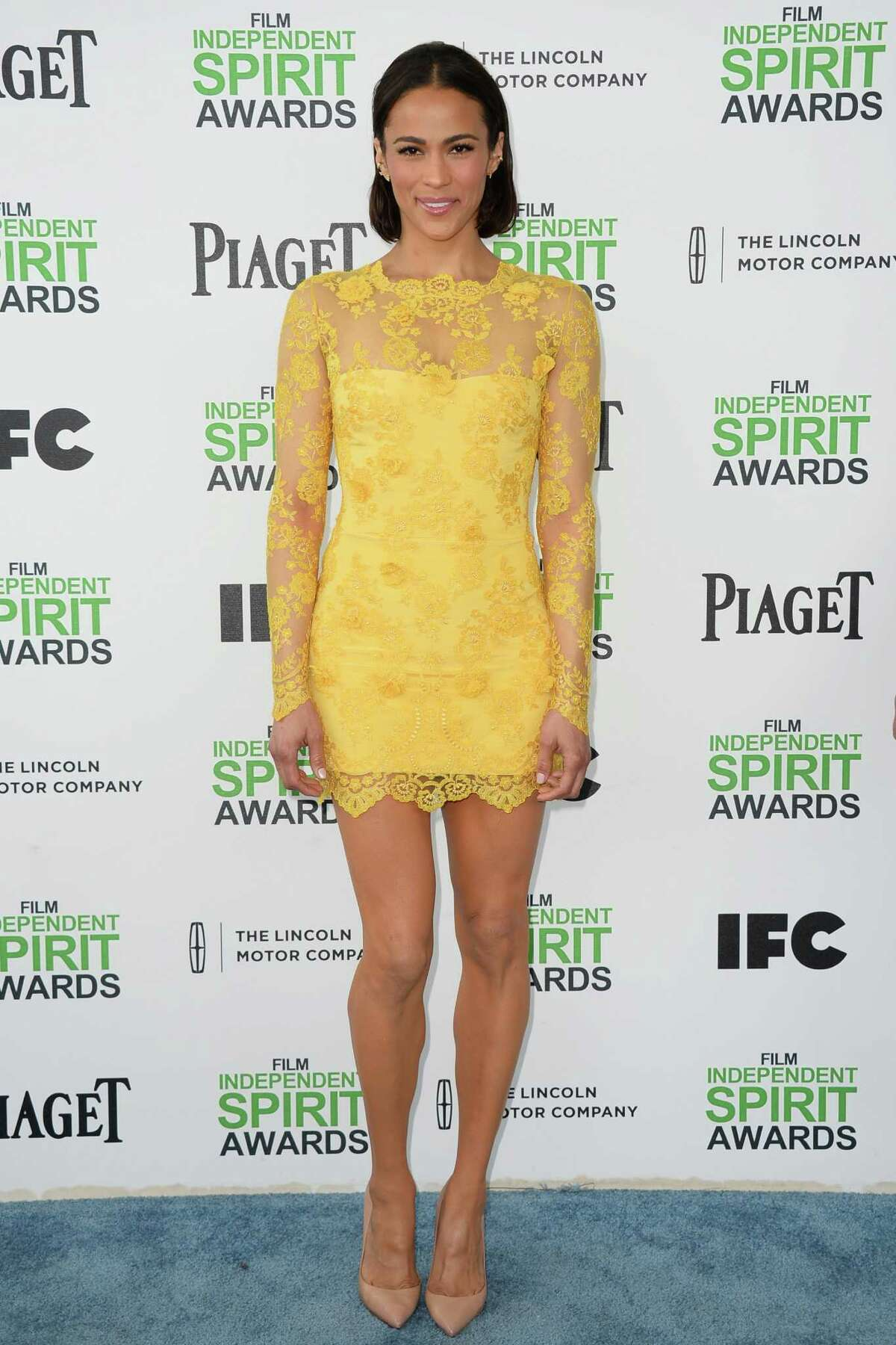 Paula Patton arrives at the 2014 Film Independent Spirit Awards in Santa Monica, Calif., on Saturday, Mar. 1, 2014. The event's website says it