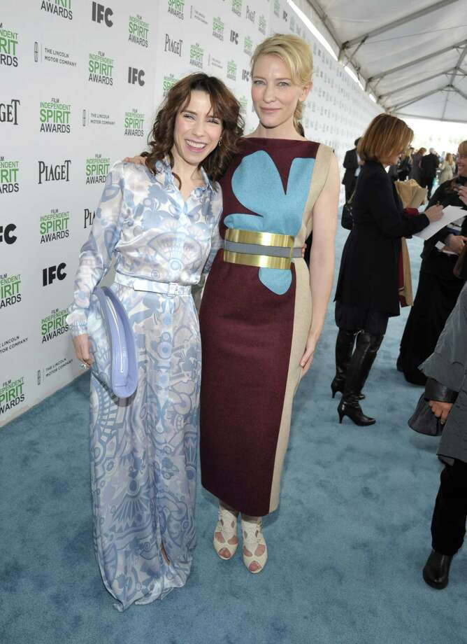 Sally Hawkins, left, and Cate Blanchett arrive. Photo: John Shearer, John Shearer/Invision/AP / Invision