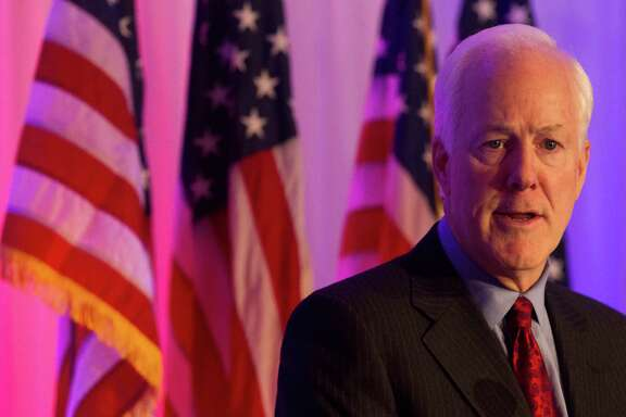 U.S. Senator John Cornyn speaks at the Fort Bend County Lincoln Dinner at Safari Texas in Richmond on Friday, Jan. 10, 2014, in Richmond.  ( J. Patric Schneider / For the Chronicle )