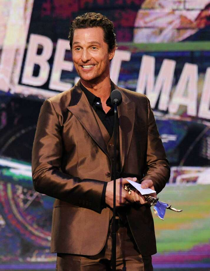 "Matthew McConaughey accepts the award for best male lead for ""Dallas Buyers Club"" on stage. Photo: Chris Pizzello, Chris Pizzello/Invision/AP / Invision"