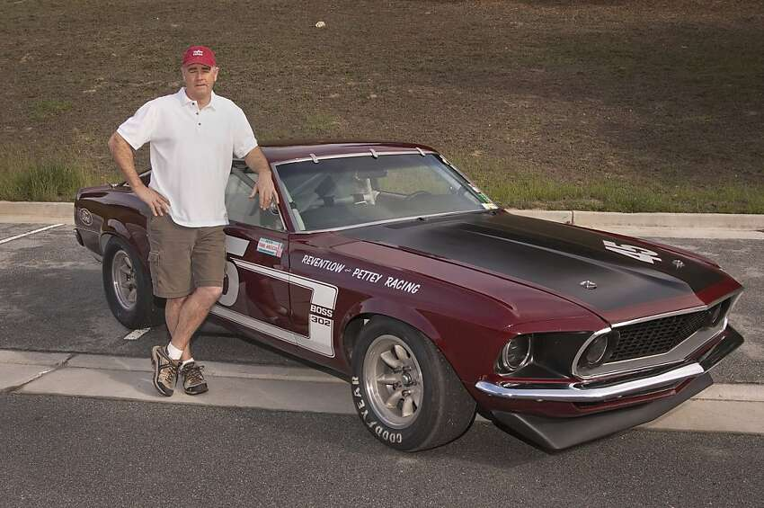 Ken Adams, 52, was born in San Francisco, has lived his whole life in Northern California, currently resides in Gilroy and works in the agri-business industry in Salinas. He has been racing since 1997, and his previous vintage cars include a '66 Mustang, a '66 Shelby and an '87 Thunderbird NASCAR. His favorite track is Mazda Raceway Laguna Seca. Here he stands next to his 1969 Mustang Boss 302 Trans Am race car.
