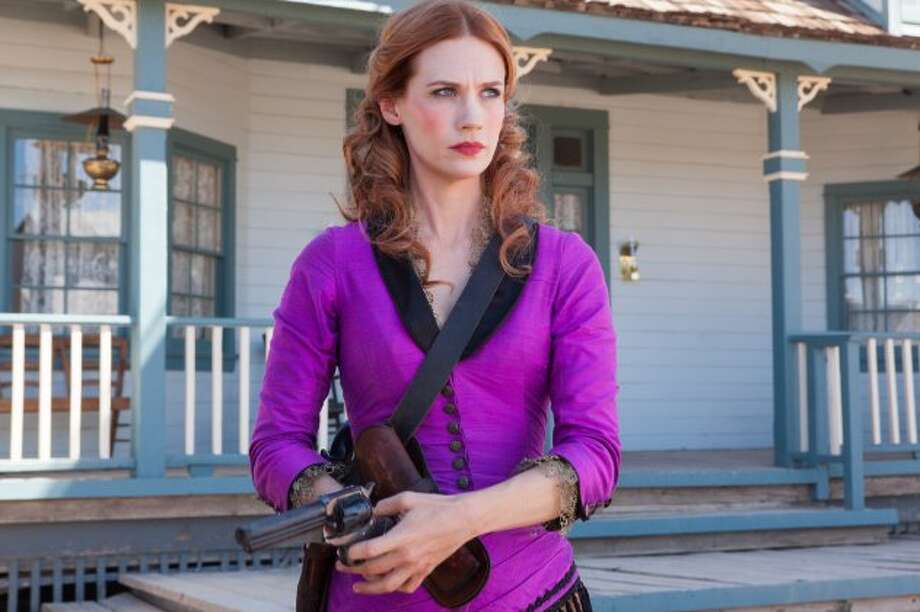 Sweetwater (2013): A pioneer woman is forced to fight for what's hers when her husband disappears and a calculating preacher makes a play for her land. With support from an offbeat sheriff, she sets out on a path of vengeance.