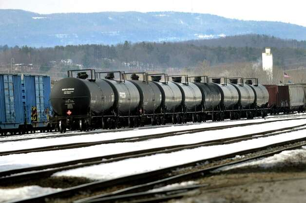 Oil tankers parked in the CSX Railyard on Saturday, March 1, 2014, in Selkirk, N.Y. (Cindy Schultz / Times Union) Photo: Cindy Schultz