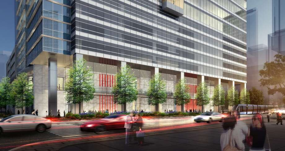 6 Houston Center: Crescent Real Estate Holdings is planning this 30-story tower with 600,000 square feet adjacent to the Houston Center complex. The company said it will break ground this summer. Photo: HKS Architects, Courtesy Of Cres