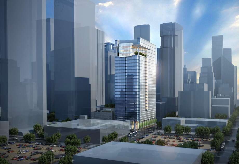 6 Houston Center:Crescent Real Estate Holdings is planning this 30-story tower with 600,000 square feet adjacent to the Houston Center complex. The company said it will break ground this summer. Photo: HKS Architects, Courtesy Of Cres
