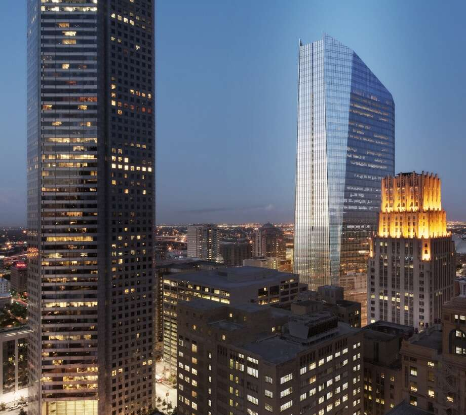 OFFICE: A rendering of Houston-based Hines' 1,050,000-square-foot, 48-story tower at 609 Main. Photo: Hines