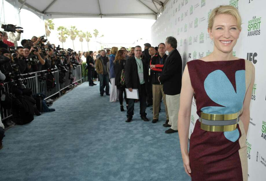 Cate Blanchett arrives at the 2014 Film Independent Spirit Awards, on Saturday, March 1, 2014, in Santa Monica, Calif. (Photo by John Shearer/Invision/AP) ORG XMIT: CACJ124 Photo: John Shearer / Invision