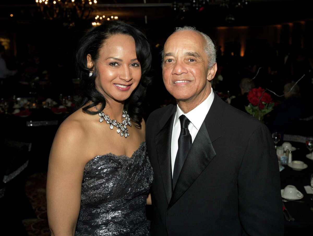 Noel E. Hord and his wife Tamar Hord during the Hord Foundation 20th Anniversary Gala at the Amber Room Colonnade, Danbury, Conn, on Saturday night, March 1, 2014.