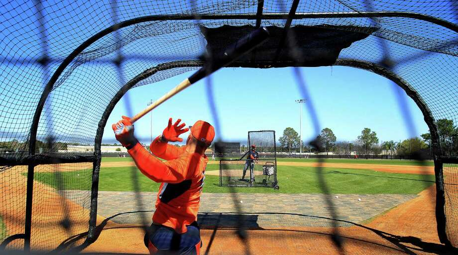 A self-described aggressive swinger at the plate, Astros outfielder George Springer has shown just about all he can in the minors. Photo: Karen Warren, Staff / © 2013 Houston Chronicle