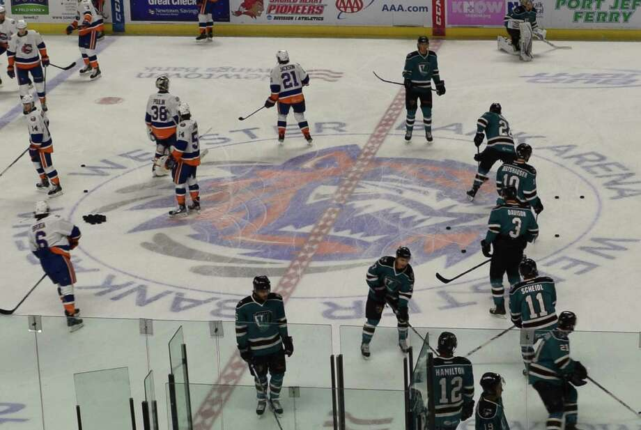 Saturday was 'Fairfield Night' at the Webster Bank Arena, featuring a hockey match between the Bridgeport Sound Tigers and the Worcester Sharks. Many locals were on hand to celebrate Fairfield's 375th anniversary. Were you SEEN? March 1, 2014. Photo: Todd Tracy / Hearst Connecticut Media Group