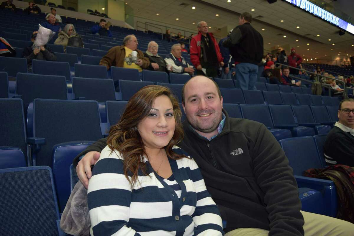 Saturday was 'Fairfield Night' at the Webster Bank Arena, featuring a hockey match between the Bridgeport Sound Tigers and the Worcester Sharks. Many locals were on hand to celebrate Fairfield's 375th anniversary. Were you SEEN? March 1, 2014.