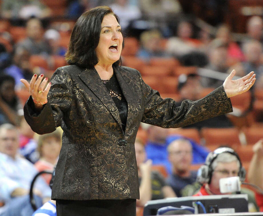 Duncanville head coach Cathy Self-Morgan during the UIL 5A state final girls basketball game between Manvel and Duncanville high schools on Sat., March 1, 2014 at the Frank Erwin Center in Austin, TX. Photo: Ashley Landis, Special Contributor / ©Ashley Landis