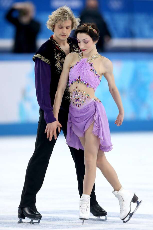 "BEST: Gold medalist ice dancers  Meryl Davis and Charlie White of the U.S. performed to ""Scheherazade"" during their free dance earlier this week. The bejeweled outfits are costumey, but reflected royal glamor in the story of a Persian queen who who told an entrancing story to her king to stay alive. The outfits also fit properly. Other skaters should enlist their tailor. Photo: Matthew Stockman, Getty Images"