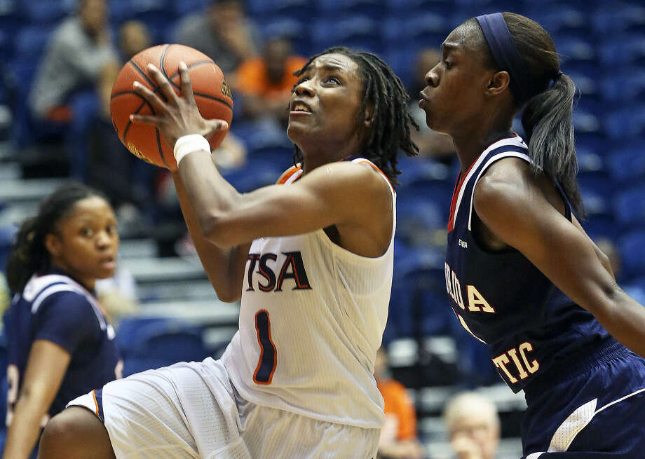 FILE: UTSA's Miki Turner, show here against Florida Atlantic, scored 15 points in an overtime loss to Marshall, 81-76, on Wednesday.