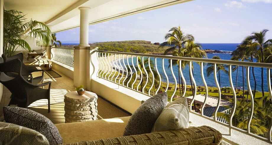 The 13 penthouse suites at Manele Bay have terraces and large daybeds and lounge furniture for relaxing. Photo: Barbara Kraft