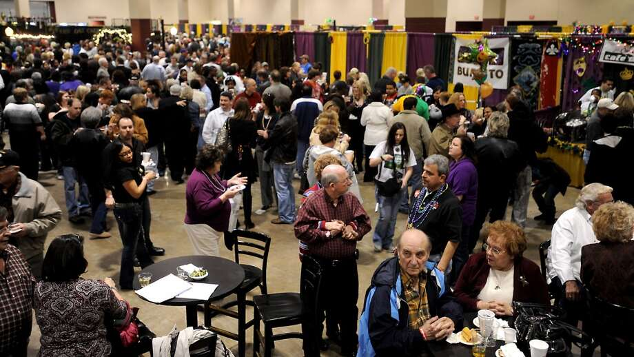 Hundreds of people gathered in the Exhibition Hall at Ford Park to sample the different restaurant dishes during the 2010 Taste of the Triangle. Enterprise file photo Photo: File
