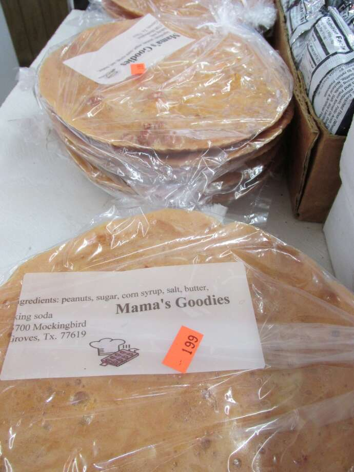 Mama s Goodies peanut brittle, made in Groves and sold at Nick's Grocery in Port Arthur. Photo: Cat5