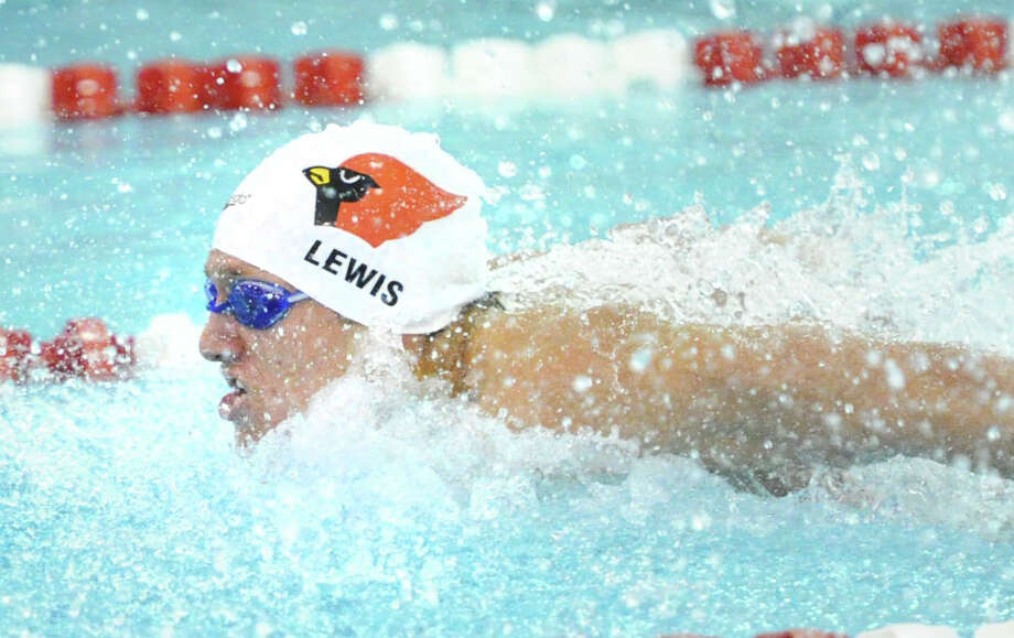 (6) Greenwich swimming. Led by Alex Lewis, the swimmer of the year, Greenwich torpedoed the competition for an undefeated season. The Cardinals rolled to the FCAIC and LL titles, before running away with the 31st state open title in school history. Photo: Bob Luckey / Greenwich Time