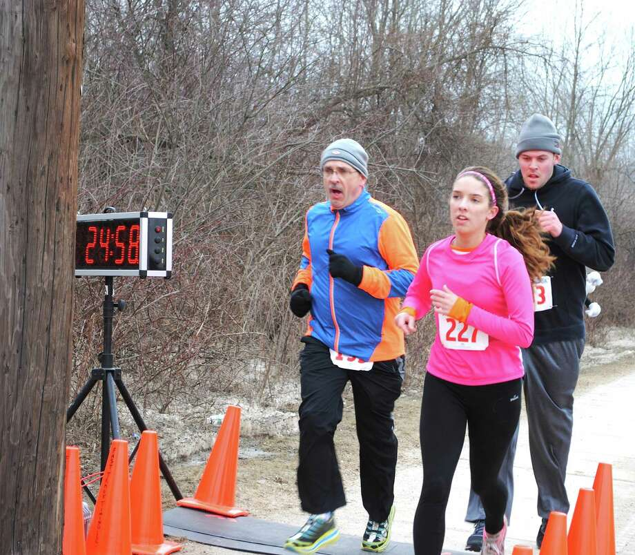 """Over two hundred runners laced up to support the Danbury Westerners 2nd Annual """"Big Chill"""" 5K fundraiser at the Danbury Sports Dome on Sunday, March 2, 2014. Were you SEEN? Photo: Wendy Mitchell"""