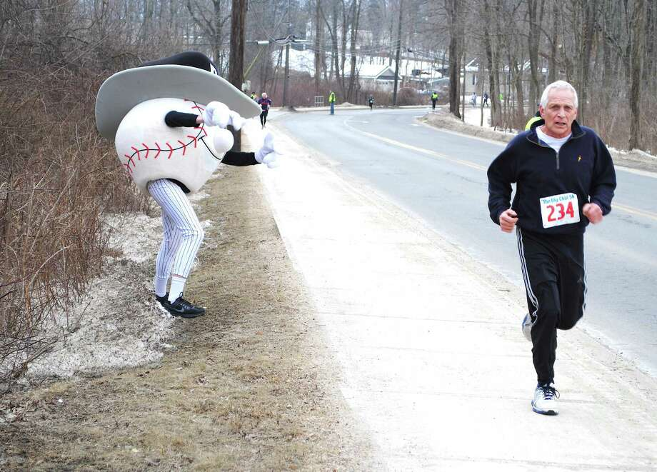 "Over two hundred runners laced up to support the Danbury Westerners 2nd Annual ""Big Chill"" 5K fundraiser at the Danbury Sports Dome on Sunday, March 2, 2014. Were you SEEN? Photo: Wendy Mitchell"