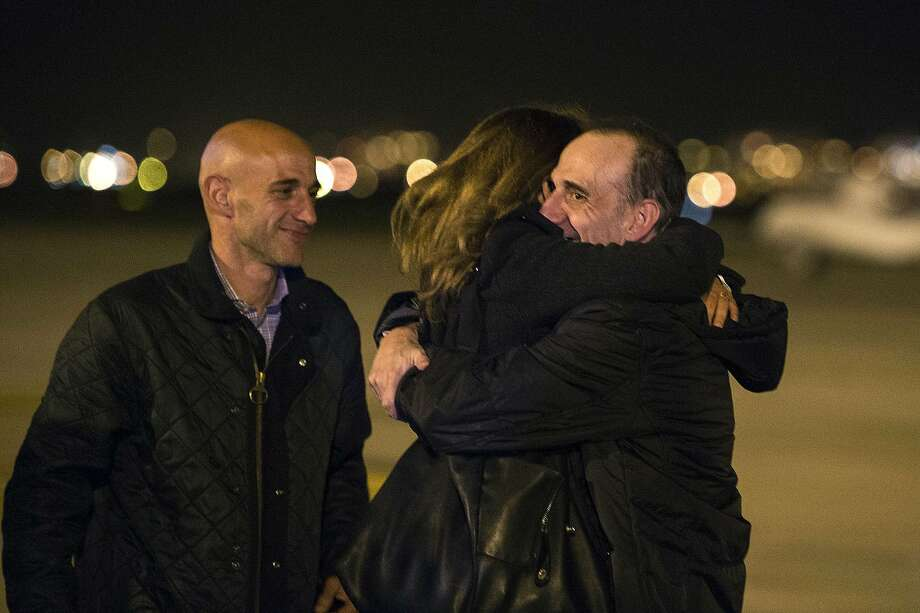 "A handout picture taken on March 2, 2014 shows Spanish journalist Marc Marginedas (R) of El Periodico newspaper embracinh his sister upon his arrival at El Prats airport after being released. Marginedas, who was kidnapped in Syria on September 2013 by jihadists of the Islamic State of Iraq and the Levant, has been released his newspaper said today.   AFP PHOTO/ HO/ JORDI COTRINA== RESTRICTED TO EDITORIAL USE - MANDATORY CREDIT ""AFP PHOTO/ HO/ JORDI COTRINA"" - NO MARKETING NO ADVERTISING CAMPAIGNS - DISTRIBUTED AS A SERVICE TO CLIENTS ==JORDI COTRINA/AFP/Getty Images Photo: Jordi Cotrina, AFP/Getty Images"