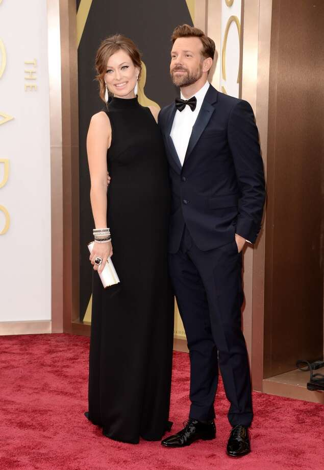 Olivia Wilde and Jason Sudeikis on the red carpet at the Oscars. Photo: Jason Merritt, Getty Images