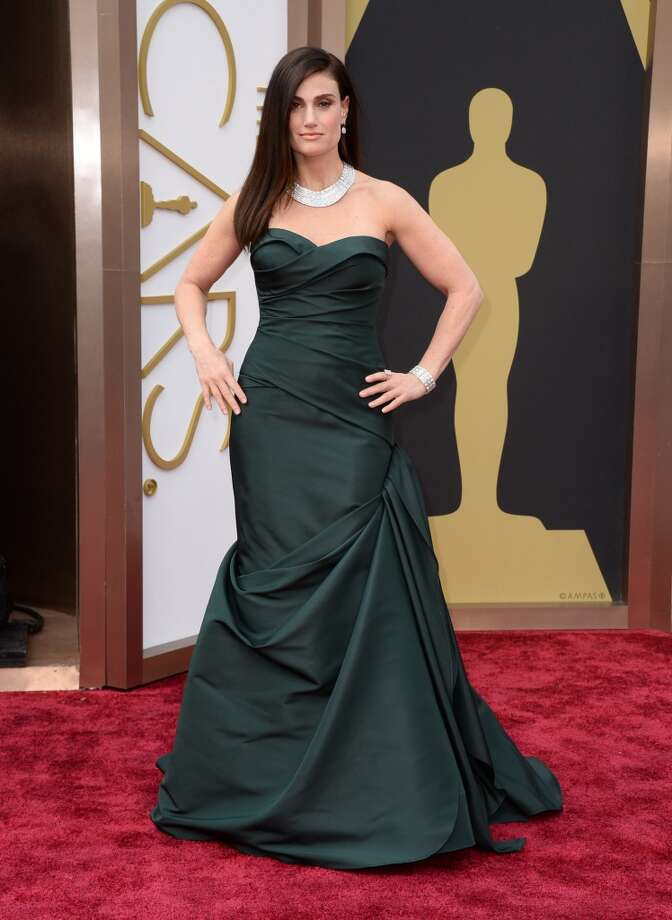 Idina Menzel arrives at the Oscars on Sunday, March 2, 2014, at the Dolby Theatre in Los Angeles. Photo: Jordan Strauss, Associated Press
