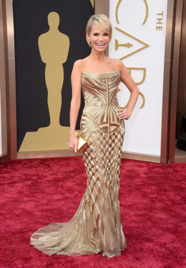 Kristin Chenoweth arrives at the Oscars on Sunday, March 2, 2014, at the Dolby Theatre in Los Angeles. Photo: Jordan Strauss, Associated Press