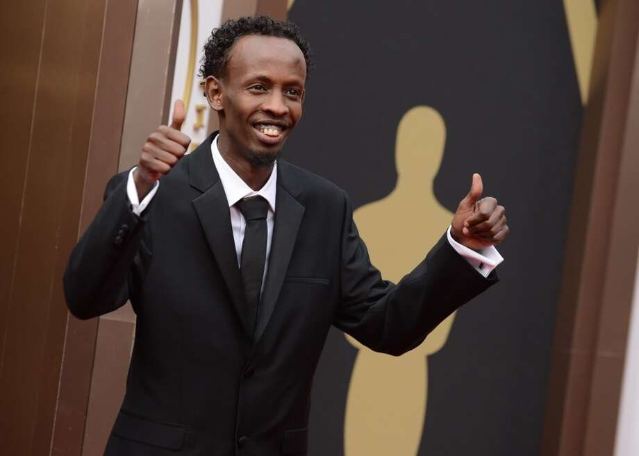 Barkhad Abdi arrives at the Oscars on Sunday, March 2, 2014, at the Dolby Theatre in Los Angeles. Photo: Jordan Strauss, Associated Press