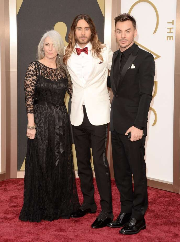 (L-R) Constance Leto, Jared Leto and Shannon Leto attend the Oscars held at Hollywood & Highland Center on March 2, 2014 in Hollywood, California. Photo: Jason Merritt, Getty Images
