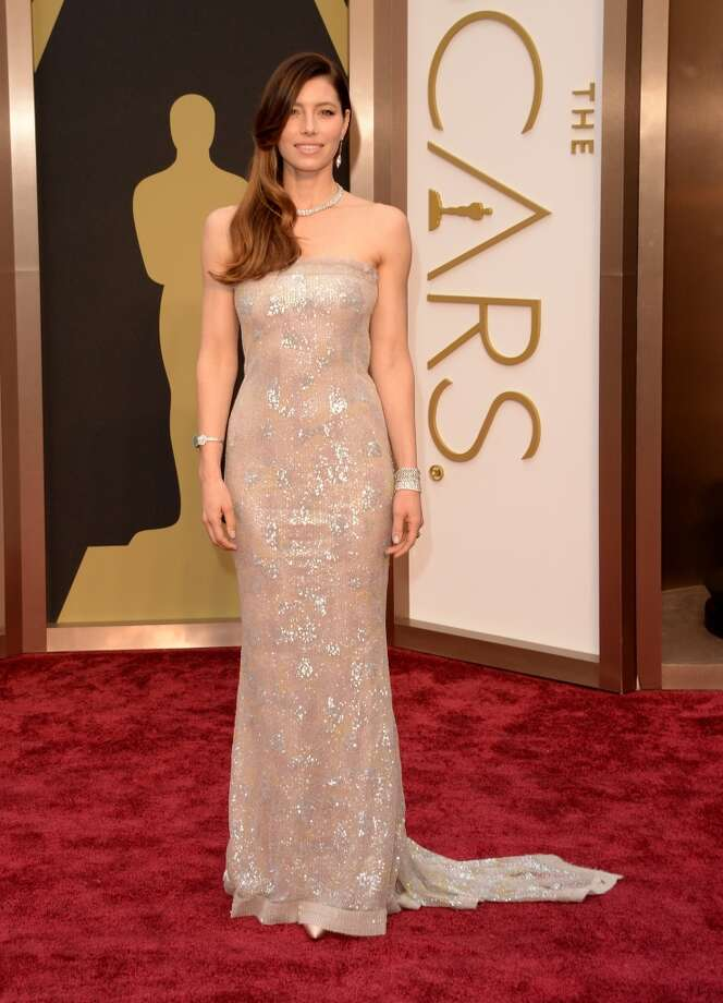 Actress Jessica Biel attends the Oscars held at Hollywood & Highland Center on March 2, 2014 in Hollywood, California. Photo: Jason Merritt, Getty Images