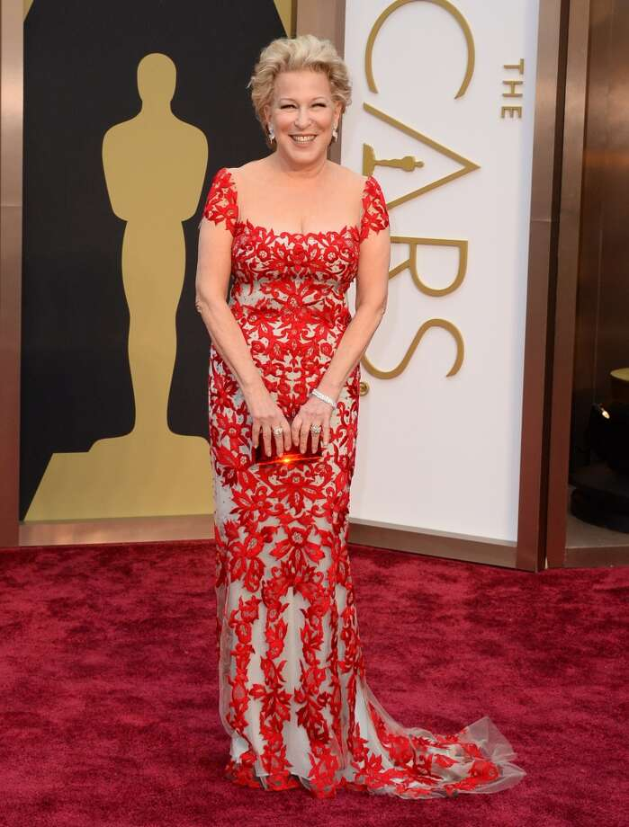 Bette Midler arrives at the Oscars on Sunday, March 2, 2014, at the Dolby Theatre in Los Angeles. Photo: Jordan Strauss, Associated Press